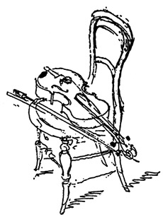 Chair with violin