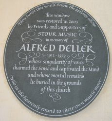 In Memory of Alfred Deller